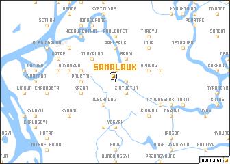 map of Samalauk