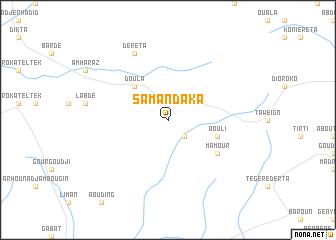 map of Samandaka