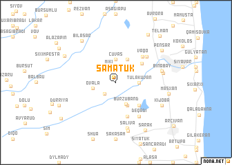 map of Şǝmǝtük