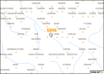 map of Sama