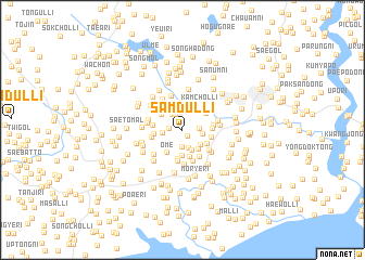 map of Samdul-li