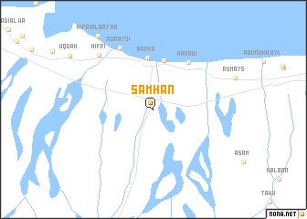map of Samhān
