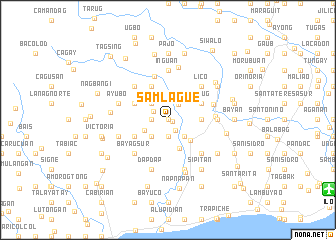 map of Samlague
