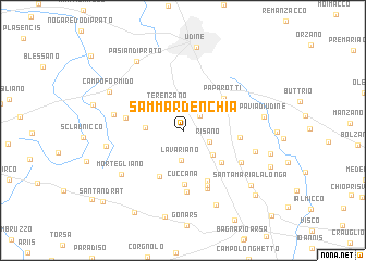 map of Sammardénchia