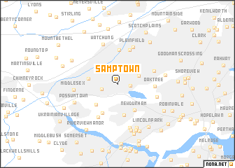 map of Samptown
