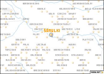 map of Samułki