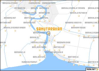 map of Samut Prakan