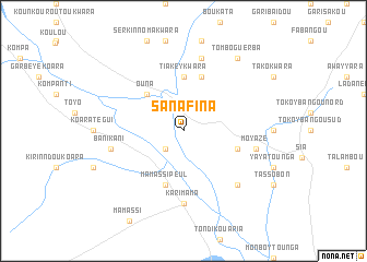 map of Sanafina