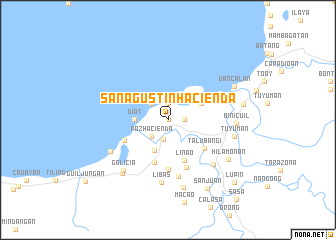 map of San Agustin Hacienda
