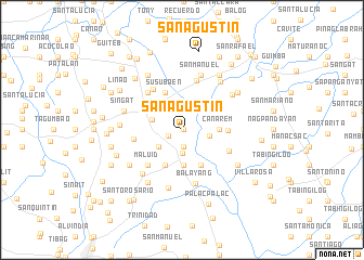 map of San Agustin