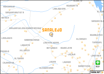 map of San Alejo