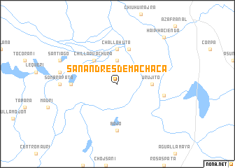 map of San Andrés de Machaca