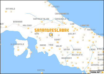 map of San Andres Labak