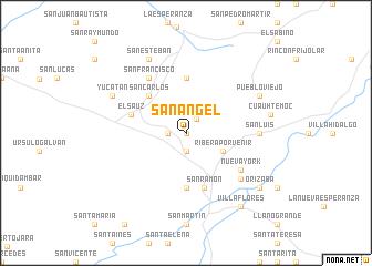 San ngel Mexico map nonanet