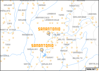map of San Antonio
