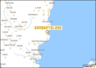 map of San Bartolome