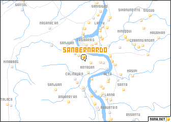 map of San Bernardo