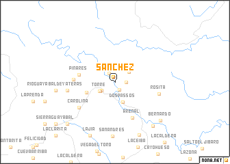map of Sánchez