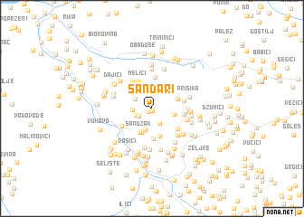map of Šandari