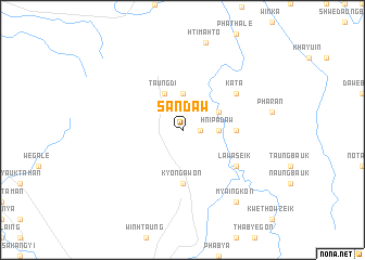 map of Sandaw