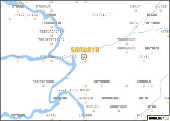 map of Sandaya