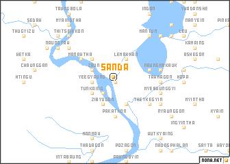 map of Sanda