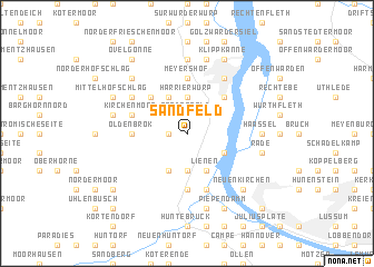 map of Sandfeld
