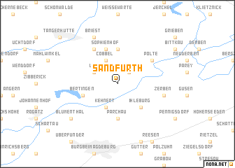 map of Sandfurth