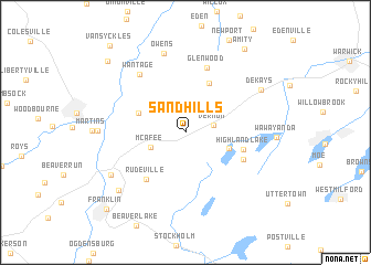 map of Sand Hills