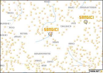 map of Sandići