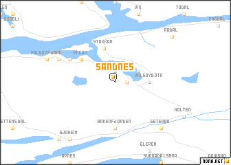 Sandnes Norway map nonanet
