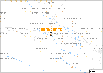 map of San Donato