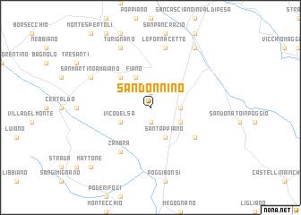map of San Donnino
