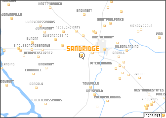map of Sand Ridge