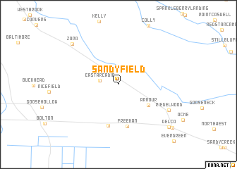 map of Sandyfield