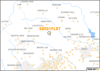 map of Sandy Flat