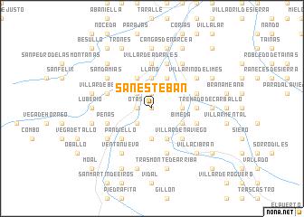 map of San Esteban