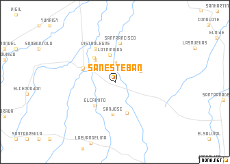 map of San Esteban