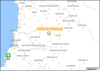 map of San Fernando