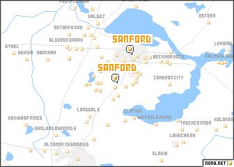 Map Of Sanford Florida.Sanford United States Usa Map Nona Net