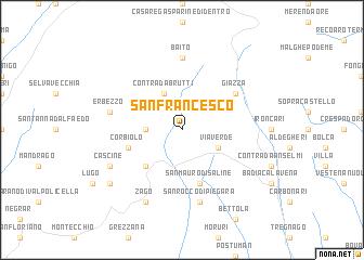 map of San Francesco