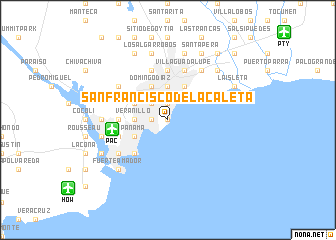map of San Francisco de la Caleta