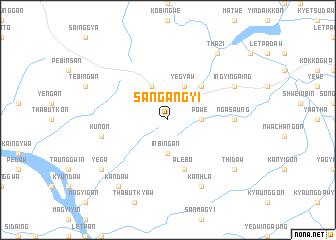 map of Sangangyi