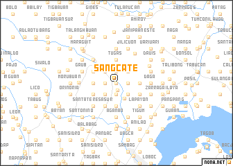 map of Sangcate
