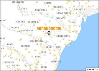 map of Sangdang-gol