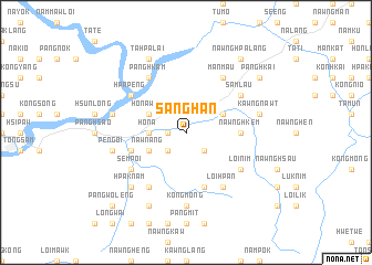 map of Sānghān