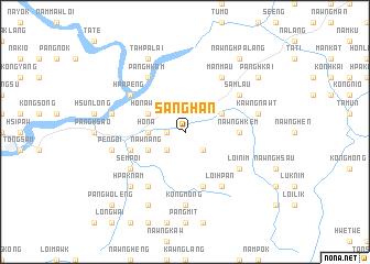 map of Sānghān