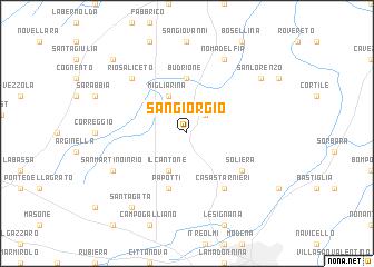 map of San Giorgio