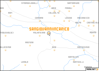 map of San Giovanni Incarico