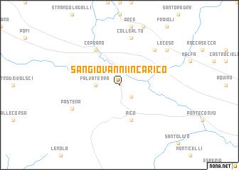 map of San Giovanni Incarico